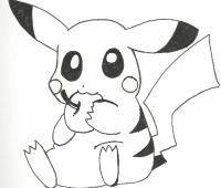 dibujos de pikachu graciosos