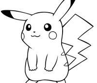 dibujos de pikachu para imprimir
