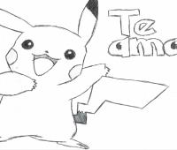 dibujos de pikachu tiernos