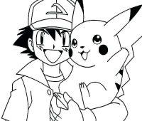 dibujos de pikachu y ash en lápiz