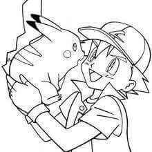 dibujos de pikachu y ash