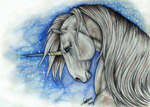 dibujos de unicornios con lápiz