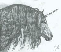 dibujos de unicornios para hacer a lápiz