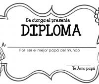 diploma a lápiz para papá