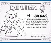 diploma para el día del padre