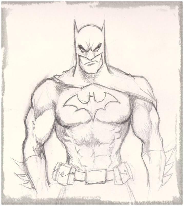 ▷ Dibujos de Batman a Lápiz | El Caballero de la Noche | Bruce Wayne