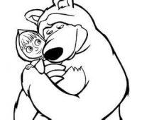 masha y el oso a lapiz
