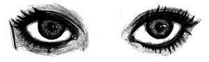 ojos a lápiz realistas