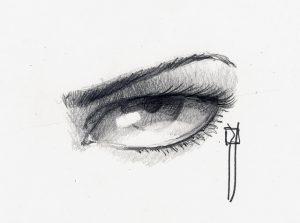 ojos chidos a lapiz