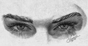 ojos de personas a lápiz