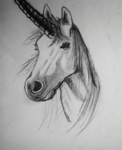 unicornio a lápiz
