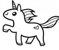unicornio a lápiz kawaii