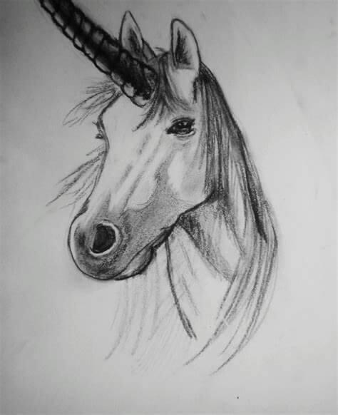 Dibujos De Unicornios Hechos A Lapiz Ideales Para Tu Pequena