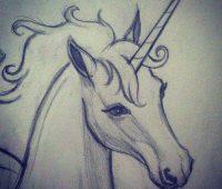unicornio para hacer a lápiz
