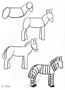Dibujos a Lápiz para Principiantes de cebras