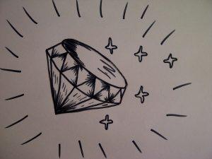Dibujos a Lápiz para Principiantes de un diamante