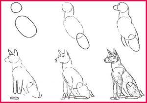 Dibujos a Lápiz para Principiantes perrito