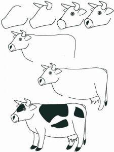 Dibujos a Lápiz para Principiantes vacas