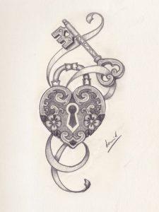dibujos de tatuajes faciles de corazones