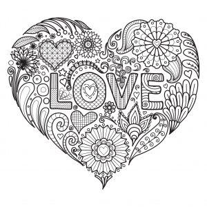 mandalas de amor a lápiz