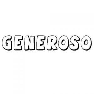 Dibujos de Generosidad para descargar
