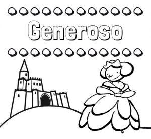 Dibujos de Generosidad princesa