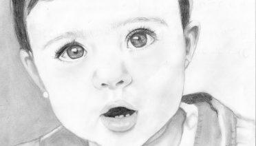 dibujos a lapiz de rostros bebes
