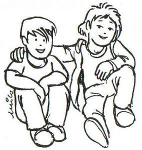 dibujos de amigos chidos