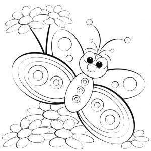 mariposa a lápiz sencilla