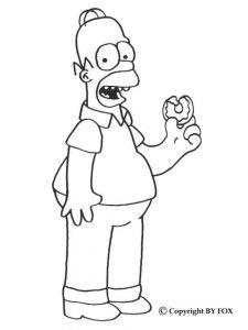Dibujos de Homero Simpson a lápiz