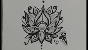 dibujos de flor de loto para descargar