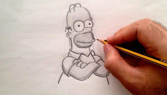 homero simpson en lápiz