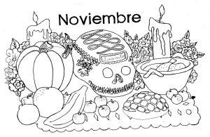 Dibujos de Día de Muertos a lápiz