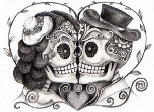 Dibujos de Día de Muertos bonitos