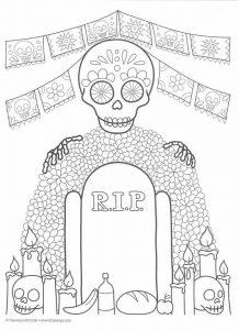 Dibujos de Día de Muertos para imprimir