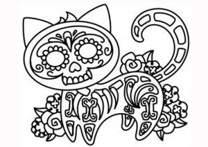 Dibujos de Día de Muertos para niños