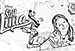 Dibujos de soy Luna para niñas