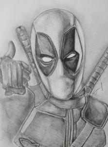 deadpool hecho a lápiz