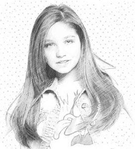 dibujos de Karol sevilla a lápiz