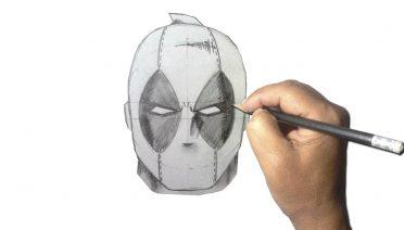 dibujos de deadpool a lápiz
