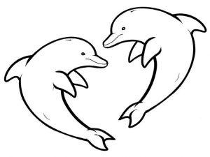 dibujos de delfines enamorados