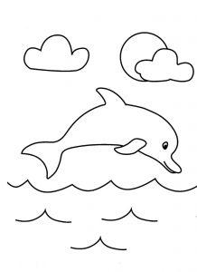 dibujos de delfines para niños