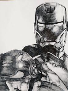 dibujos de iron man a lapiz gratis