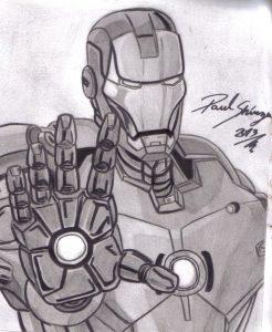 dibujos de iron man bonitos