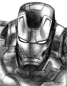 dibujos de iron man con lápiz