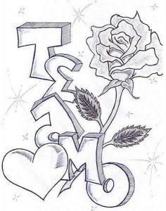 dibujos que digan te amo bonitos
