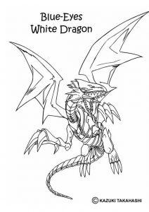 dragón blanco ojos azules