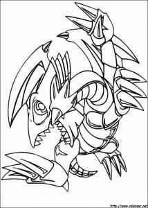 dragon ojos azules animado a lápiz