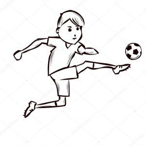 futbolista a lápiz