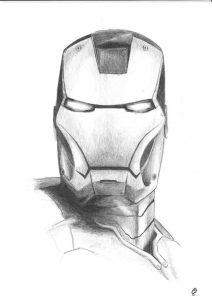 Los Mejores Dibujos De Iron Man Tony Stark A Lápiz